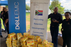Doug Woolley, Dell Technologies SA General Manager and employee resource group pays it forward, helping Zandspruit Primary School students