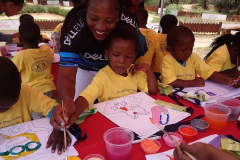 Local team partners with Diepsloot Preschool's Project to bring joy to children