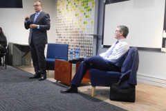 Aongus Hegarty, Dell Technologies EMEA President and Mohammed Admin, Dell Technologies Senior VP MERAT share wisdom with the Khulisa Academy students