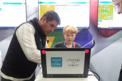 Code4Change Hour of Code sessions with young students